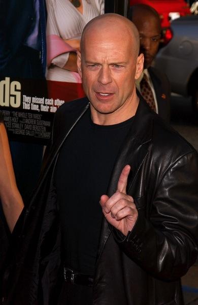 trendige Männerfrisur - Bruce Willis